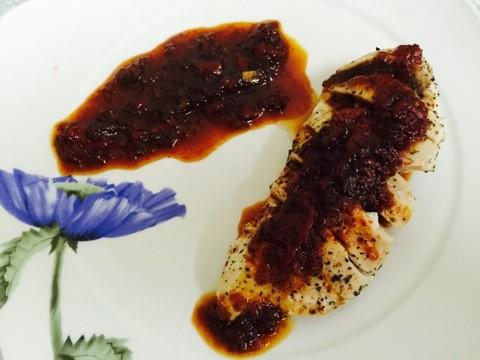 Medallones de pollo con salsa caramelizada de cebolla y pimientos #varoma #vapor #thermomix