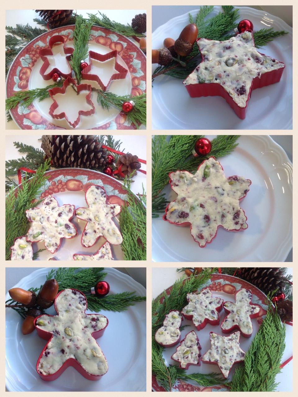 Dulces Navideños con Thermomix® : Sturge de chocolate blanco con pistachos y arándanos.