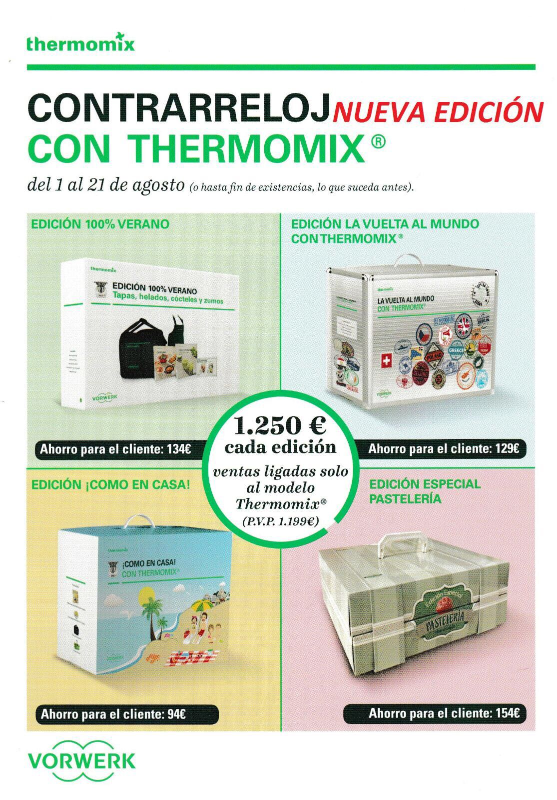Thermomix® contrarreloj y por solo 51€ más, elige tu pack