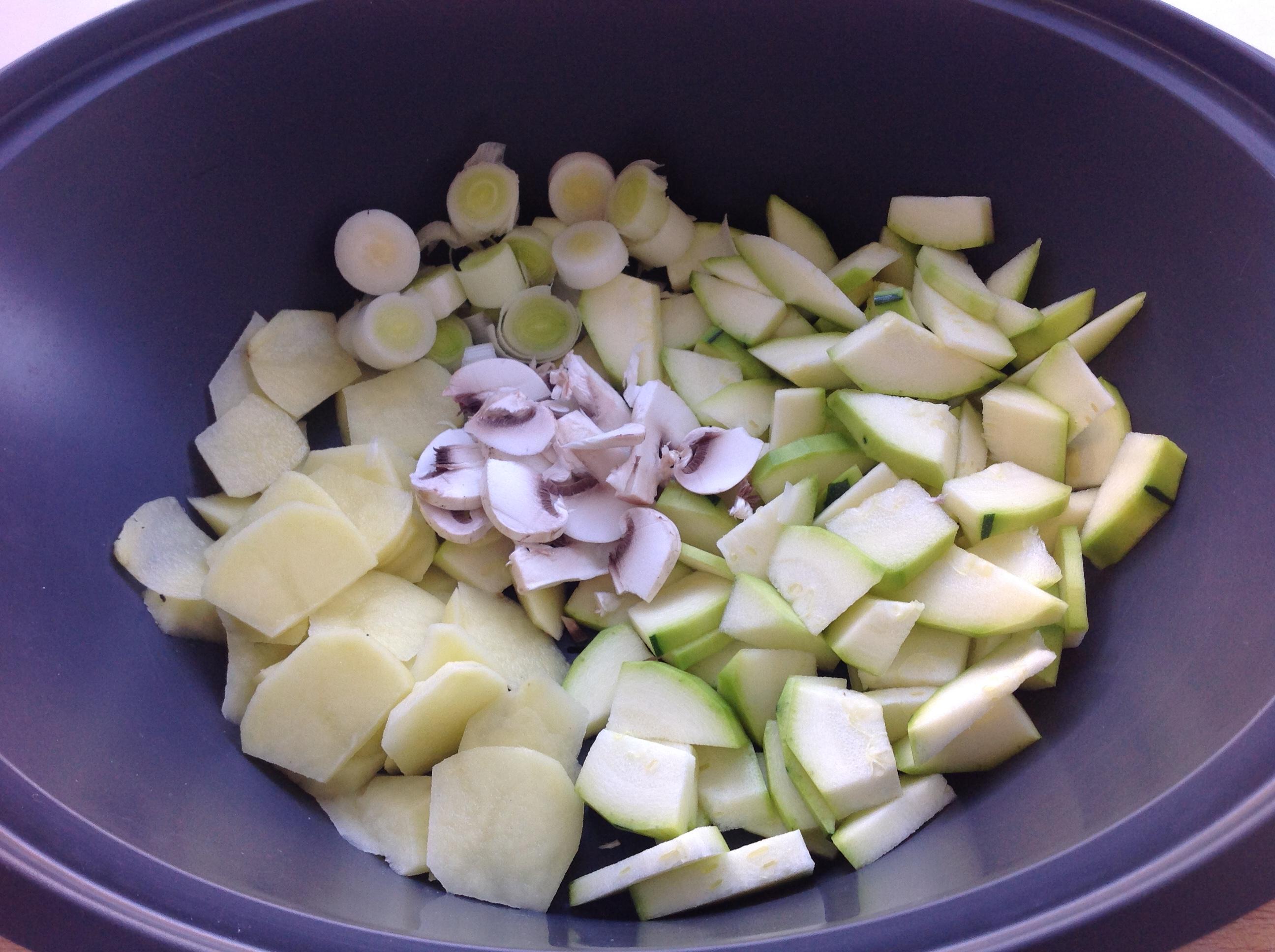 Cena light : Tortilla de verduras y patata al vapor