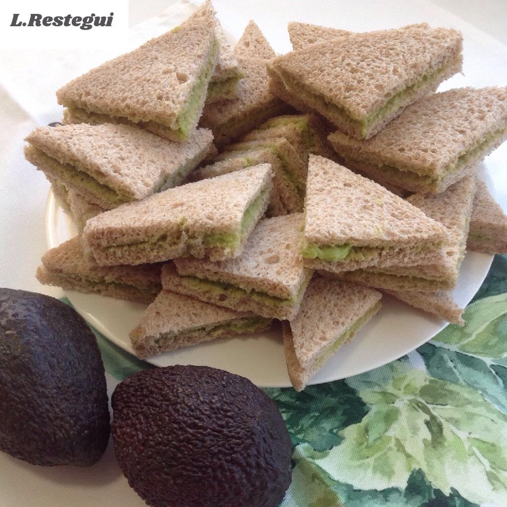 Sandwiches de guacamole