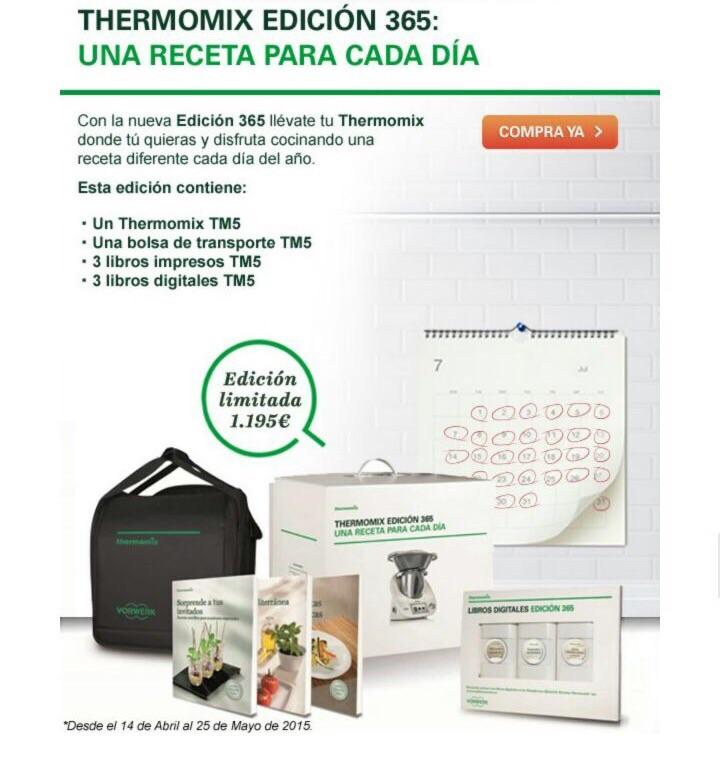 NUEVA PROMOCION¡¡¡¡¡¡¡ Thermomix® tm5 con 3 libros digitales, 3 impresos y bolsa¡¡¡¡¡¡