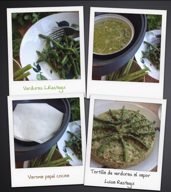 Tortilla de verduras cuajada en el varoma o en sartén