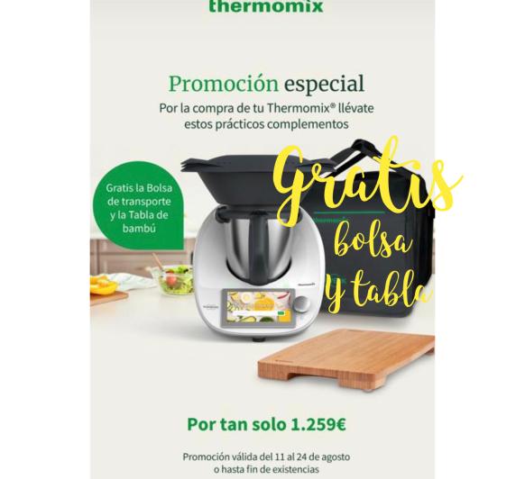 Por la Compra de Thermomix® TM 6, gratis la bolsa de transporte y la tabla