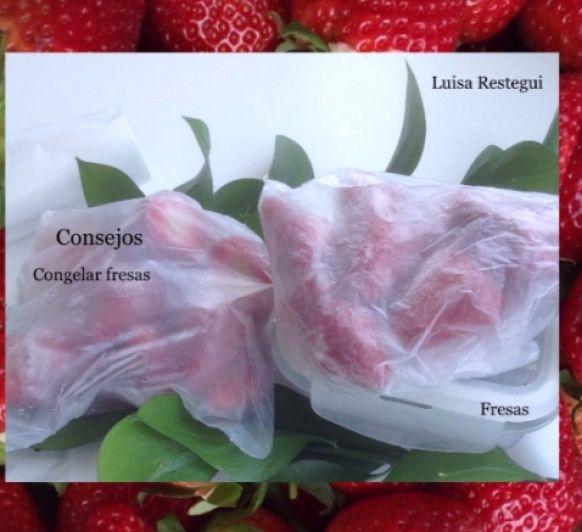 Consejos para Congelar Fresas