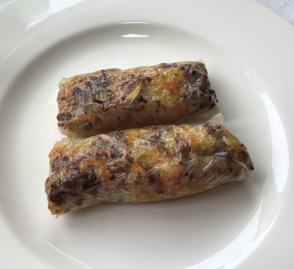 Rollitos de carne picada y verdura