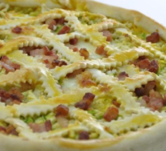 tarta salada de bacon calabacín y queso con Thermomix®