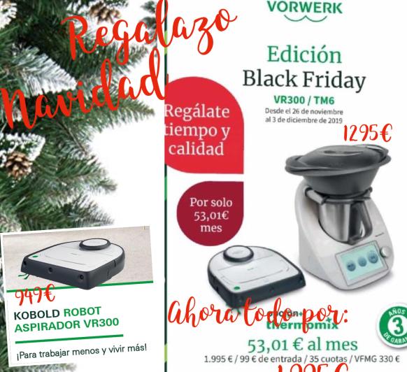 Black Friday hasta el 23 de diciembre 2 robots: Thermomix® y kobold