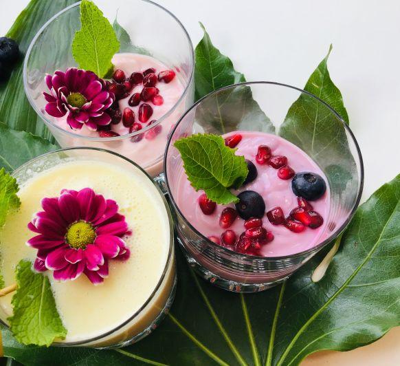 ¡¡¡Disfruta, improvisa e inventa !!! Tus Batidos con yogur y frutas