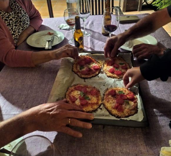 Pizza coliflor individual