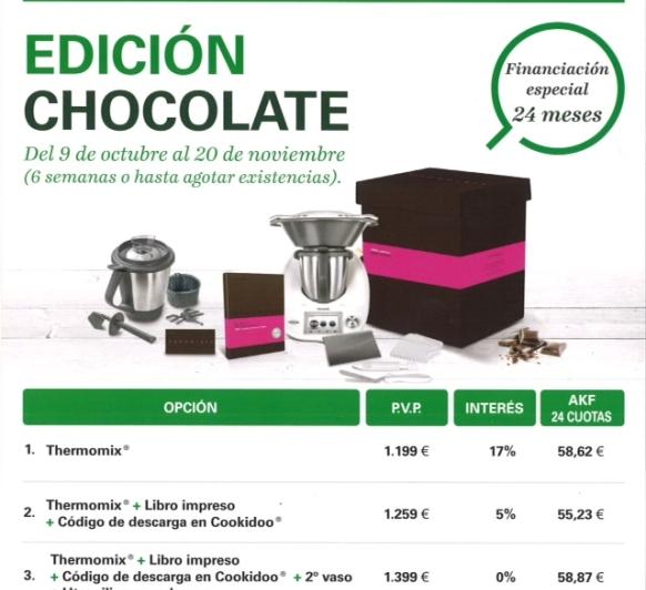 !!! Thermomix® ¡¡¡ 0%, Segundo vaso completo con Edición Chocolate